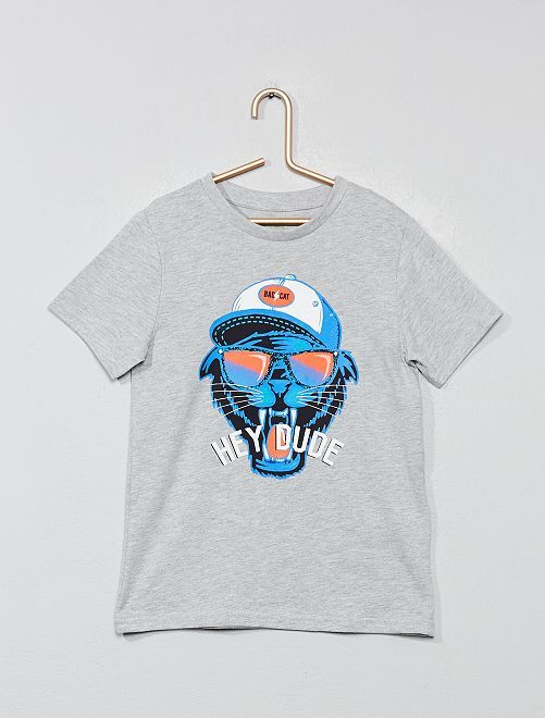 Maglietta stampa eco-design                     GRIGIO