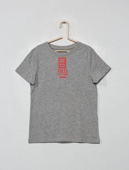 Maglietta stampa 'eco-design'                                                                                                                 GRIGIO