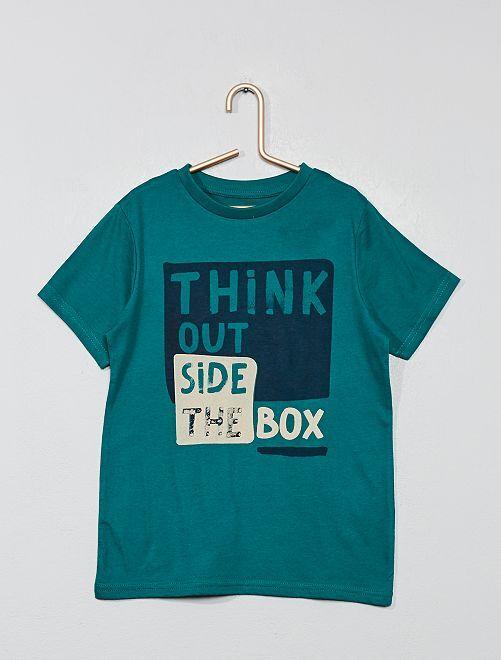 Maglietta stampa eco-design                                                                                                     VERDE Infanzia bambino