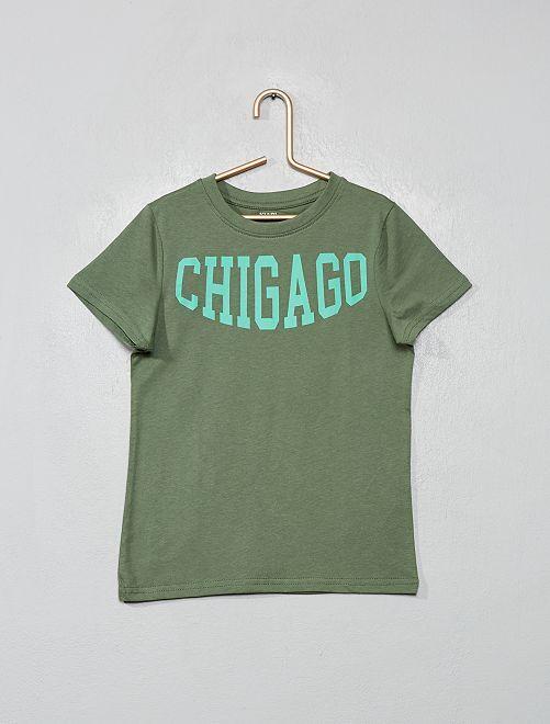 Maglietta stampa 'eco-design'                                                                                                                 VERDE