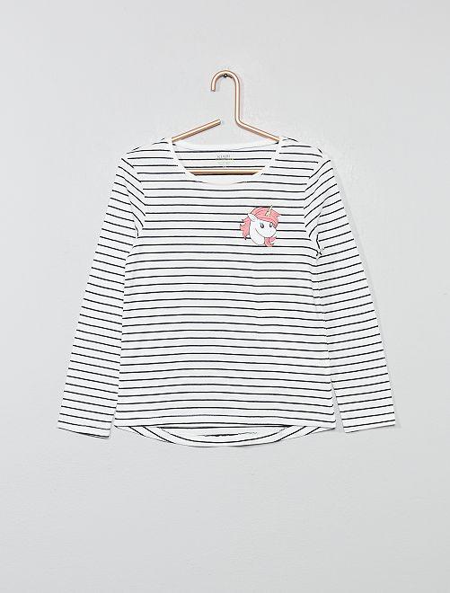 Maglietta stampa fantasia                                                                                                     BIANCO Infanzia bambina