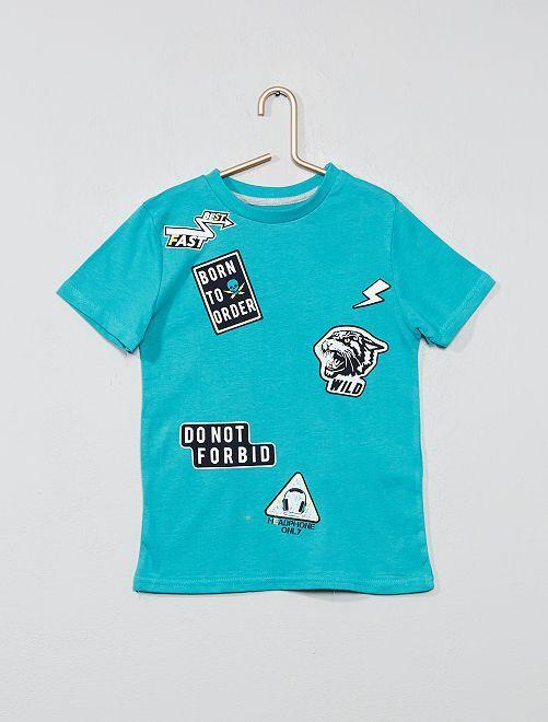 Maglietta stampa fantasia                                                                                                                                                         BLU Infanzia bambino