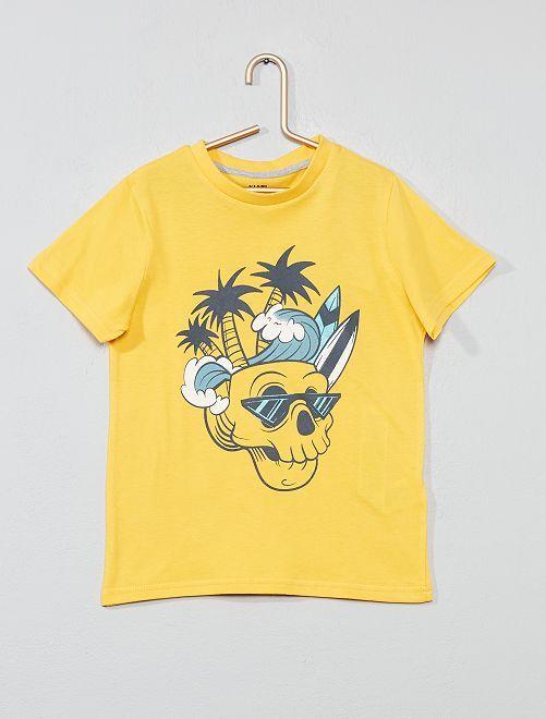 Maglietta stampa fantasia                                                                                                                                                                                                     GIALLO Infanzia bambino