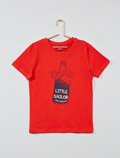 Maglietta stampa fantasia                                                                                                                                                                                                     ROSSO Infanzia bambino
