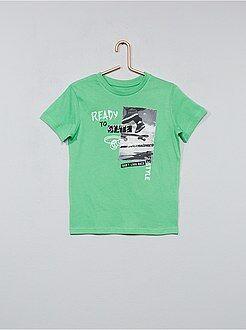 Magliette maniche corte - Maglietta stampa fantasia - Kiabi