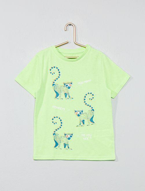 Maglietta stampa fantasia                                                                                                                                                                                                     VERDE Infanzia bambino