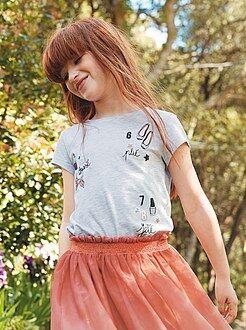 Bambina 3-12 anni Maglietta stampa girly