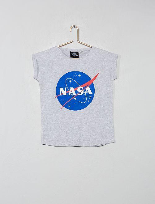 Maglietta stampa 'Nasa'                             GRIGIO Infanzia bambina
