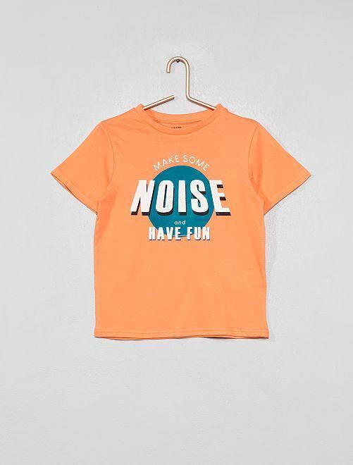 Maglietta stampata cotone bio                             ARANCIONE