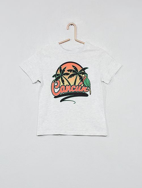 Maglietta stampata cotone bio                                                                     GRIGIO Infanzia bambino