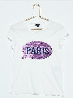 Magliette - Maglietta stampata lustrini reversibili