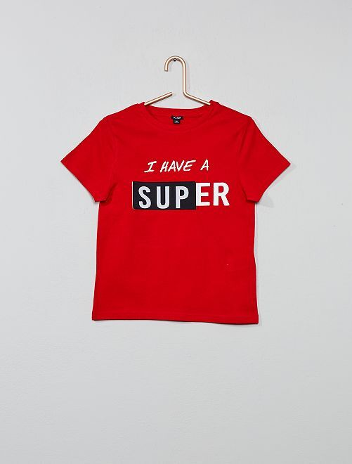 Maglietta stampata                                                     ROSSO Infanzia bambino