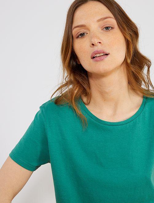 Maglietta stampata                                                                 verde pino Donna
