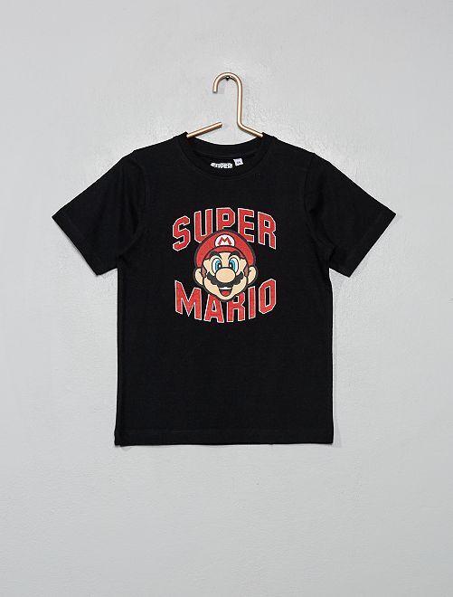 Maglietta 'Super Mario'                             nero