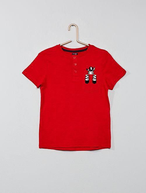 Maglietta tasca 'animale'                                                     ROSSO Infanzia bambino