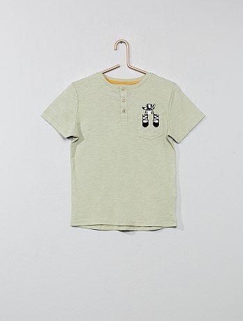 96d6240d3f5e Bambino 3-12 anni - Maglietta tasca 'animale' - Kiabi