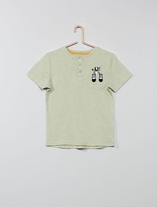 Maglietta tasca 'animale'                                                     VERDE Infanzia bambino