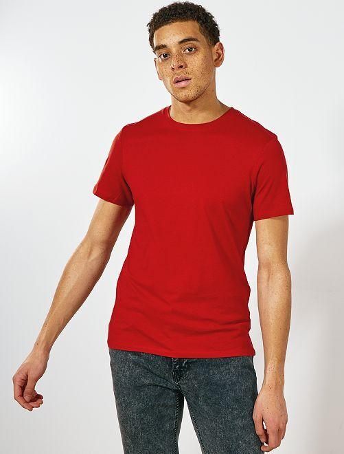 Maglietta tinta unita jersey                                                                                                                                         arancio ketchup