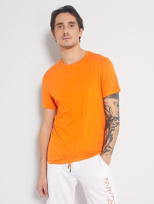Maglietta tinta unita jersey                                                                                                                                         arancio