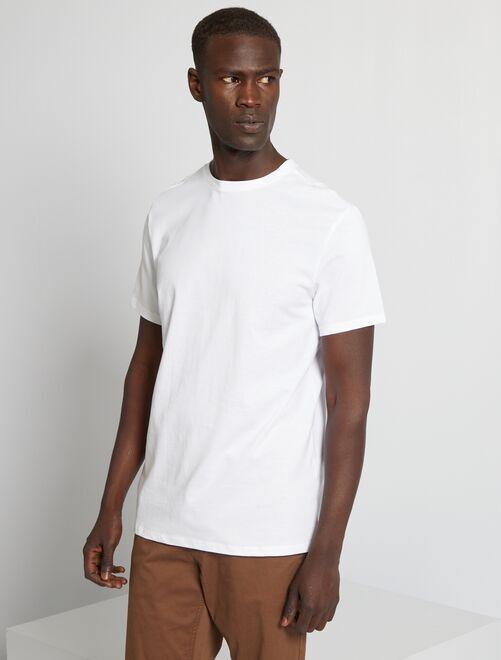 Maglietta tinta unita jersey                                                                                                     bianco