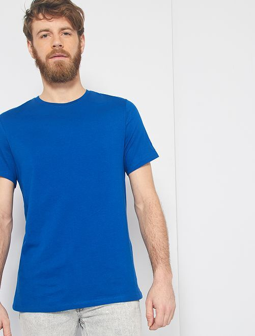 Maglietta tinta unita jersey                                                                                                                                         blu