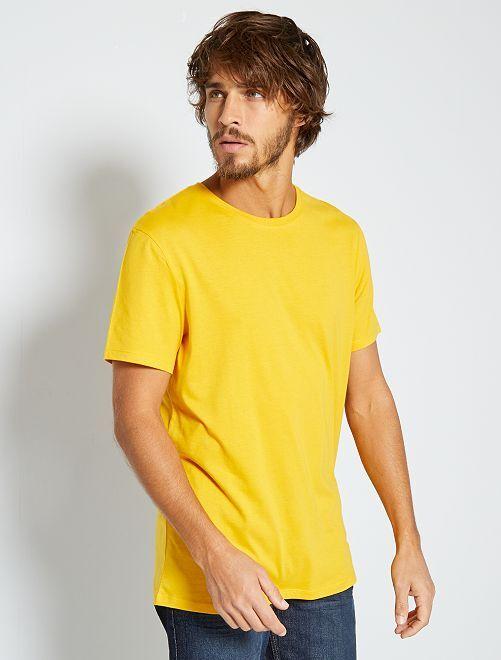 Maglietta tinta unita jersey                                                                                                                 GIALLO