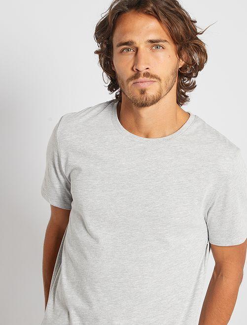 Maglietta tinta unita jersey                                                                                                                                         grigio chiaro