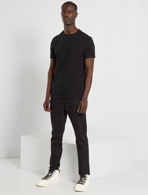 Maglietta tinta unita jersey                                                                                                                                                         nero