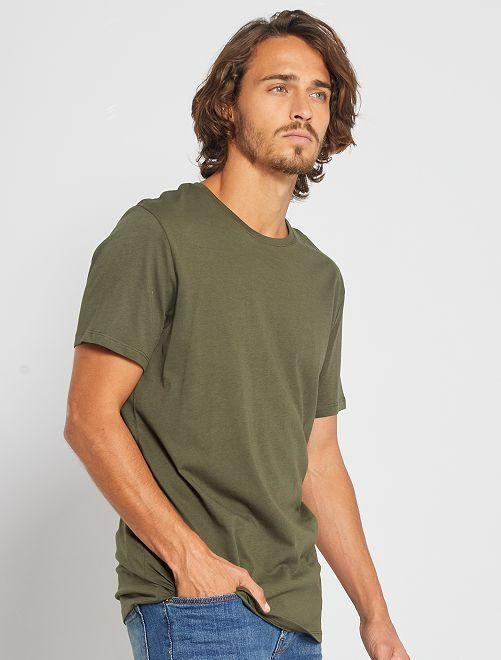 Maglietta tinta unita jersey                                                                                                                 verde selva