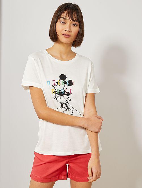 Maglietta Topolino 'Disney'                     BIANCO Donna