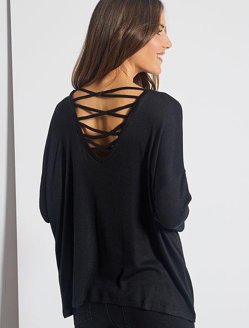 Maglione leggero 'JDY' allacciato dietro                             nero