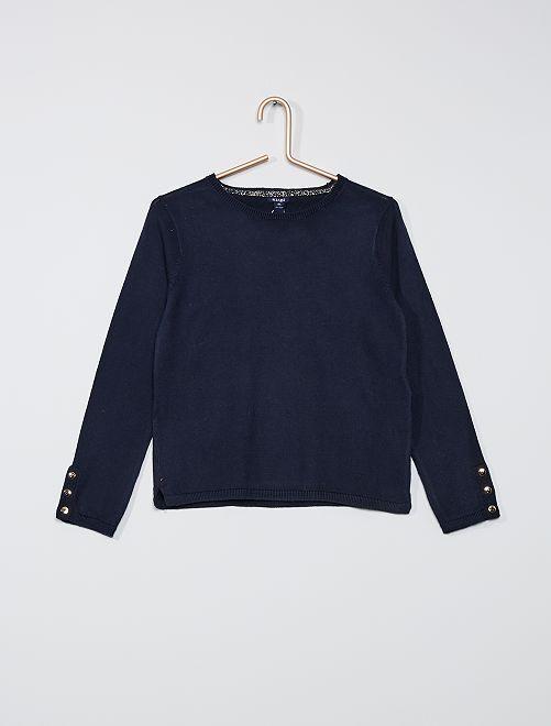 Maglione sottile eco-sostenibile                                                                 blu
