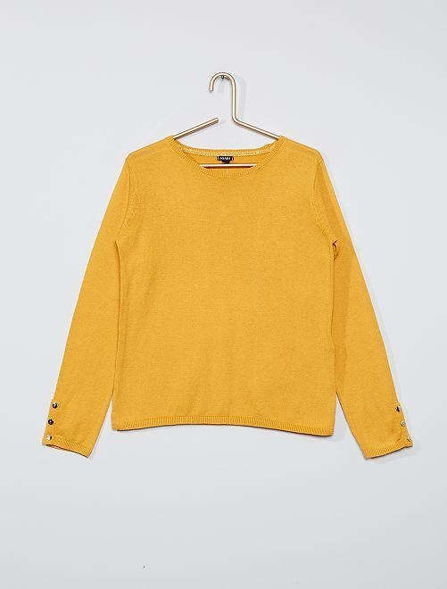 Maglione sottile eco-sostenibile                                                     GIALLO