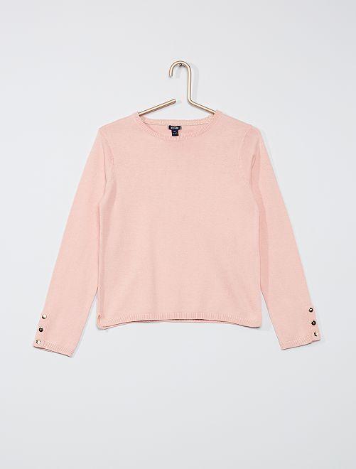 Maglione sottile eco-sostenibile                                                                 rosa