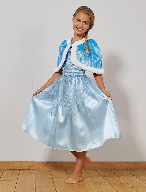 Mantella corta da principessa velluto                     blu