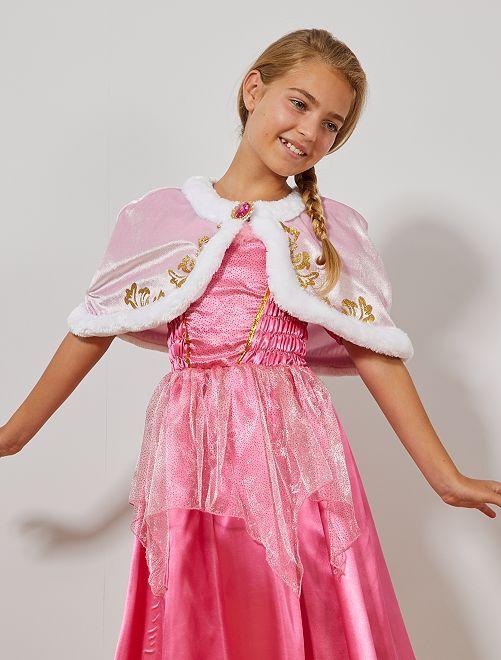 Mantella corta da principessa velluto                                         rosa Bambini