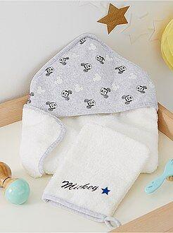 Asciugamano - Mantella da bagno e guanto 'Topolino'