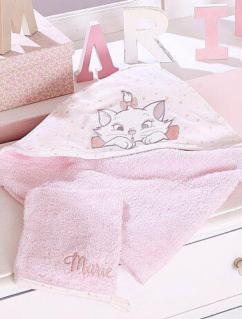 Mantella da bagno + guanto spugna 'Marie' ('Minou') - Kiabi