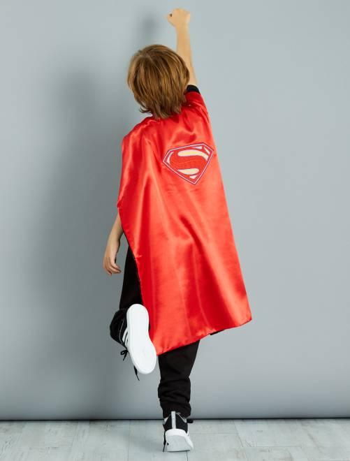 Mantello double face '2 in 1' 'Batman' e 'Superman'                             rouge/noir