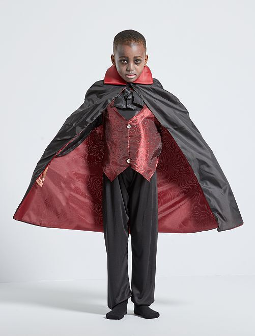 Maschera da vampiro                             nero/rosso