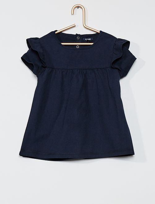 Maxi t-shirt in cotone                                         BLU