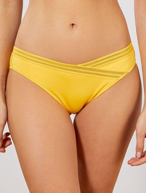 Mutandine bikini dettagli traforati                                                     giallo Donna