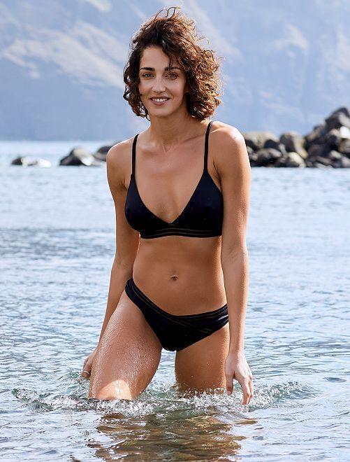 Mutandine bikini dettagli traforati                                                     nero Donna
