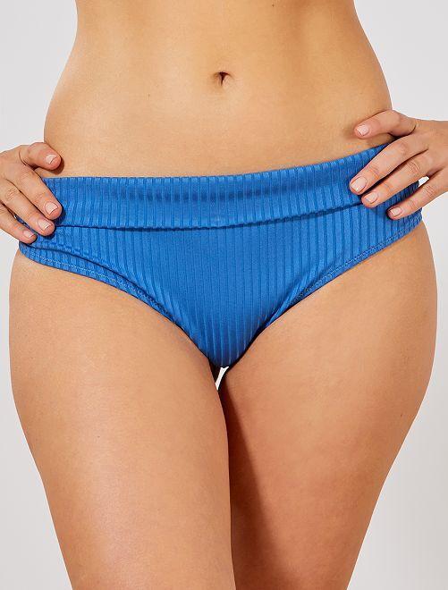 Mutandine bikini vita ripiegabile                             BLU Donna