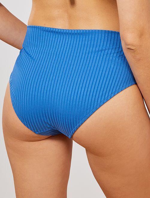 6606e2e50bc4 Mutandine bikini vita ripiegabile Donna - BLU - Kiabi - 7,00€