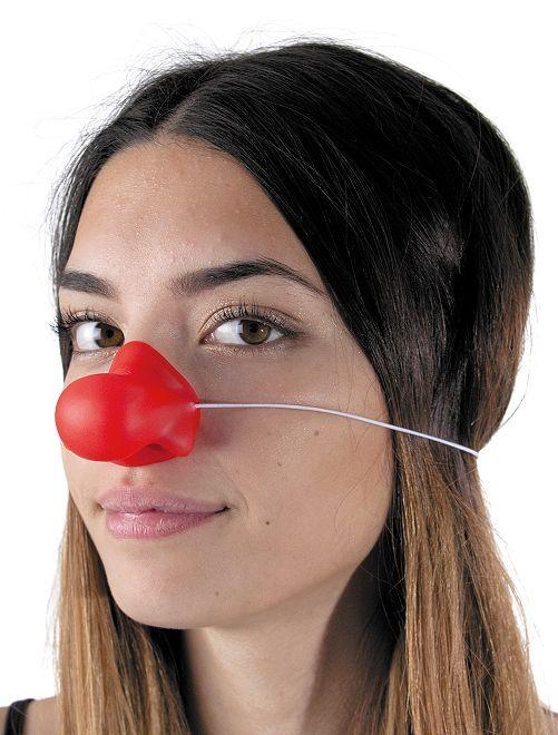 Naso rosso da clown silicone                             rosso
