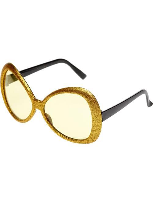 Occhiali maxi con paillette                                         dorato