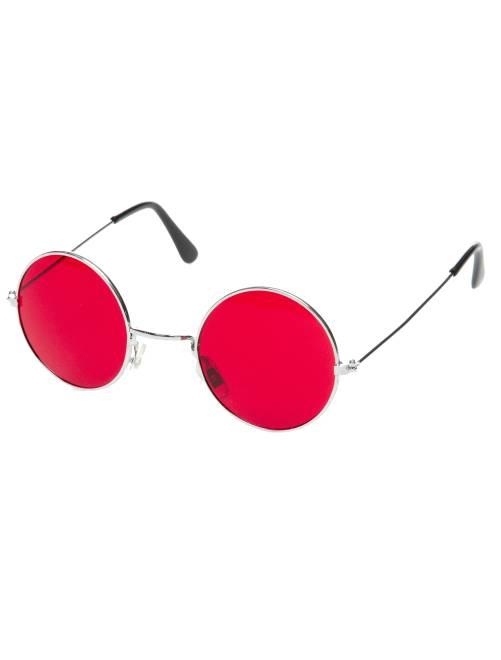 Occhiali rotondi travestimento hippie                                                                                         rosso