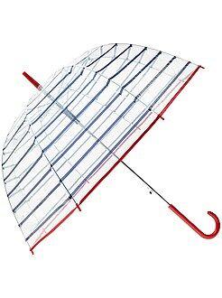 Accessori - Ombrello grande trasparente a righe - Kiabi