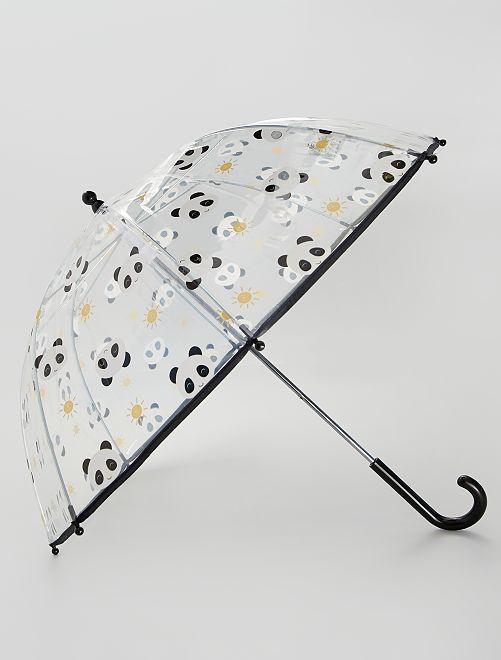 Ombrello trasparente 'Panda'                             nero